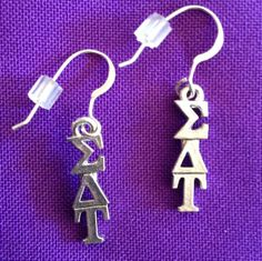 Licensed Sigma Delta Tau Earrings on Sterling by AnnPedenJewelry, $9.99
