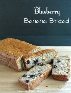 Blueberry Banana Bread is so moist and perfect that I actually think it might be the best one I have ever made. On top of that it is fast.   via @VeganFreezer