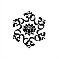 The Universal Om symbol Buddha Sacred Indian Lotus Flower Nelumbo Nucifera Vinyl Wall Decal Buddhism Divine Buddhist vibration Sign Symbol Om, Lotus Flower Buddhism, Buddhist Symbol Tattoos, Hindu Tattoos, Buddha Symbols, Hindu Symbols, Cliparts Free, Lotus Tattoo, Arm Tattoo