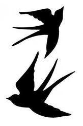 Ideas Bird Tattoo Silhouette Stencils For 2019 Vogel Illustration, Silhouettes, Bird Stencil, Silhouette Portrait, Bird Silhouette Art, Bird Drawings, Stencil Designs, Pyrography, Love Birds