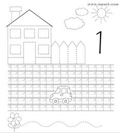 Math Coloring Worksheets, Tracing Worksheets, Alphabet Worksheets, Preschool Worksheets, Preschool Writing, Numbers Preschool, Preschool Learning Activities, Kids Learning, Kids English