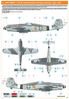 Ww2 Aircraft, Fighter Aircraft, Military Aircraft, Luftwaffe, Air Fighter, Fighter Jets, Focke Wulf 190, Camouflage Colors, Aircraft Painting