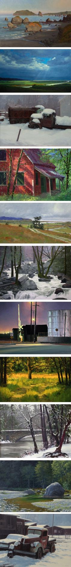 Stock Schlueter is a painter from northern California, who excels at capturing the light and atmosphere of that region, as well as more exotic locations from his travels.