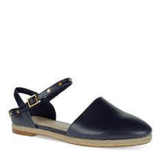 Studded Flats - Navy - Flats - Shoes   CHARLES & KEITH