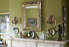 fabulous fireplace mantel styling by Sheila Bridges