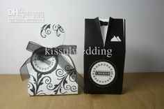 Wholesale Favor Holders - Buy Wedding Bridal Boxes Cherish Bride And Groom Favor Boxes 200pcs Lot(100pairs)with Ribbon as Photos, $0.39 | DHgate
