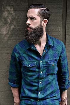 full thick dark beard and mustache mens' style casual street fashion.. My wife would love to see me rock this look.. #beardsforever