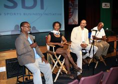 The Jesse Owens Story Q after the screening. L-R Ken Shropshire from the Wharton Buisness Sports Academy, Laurens Grant (Director), Bill Rhoden ( NYTimes Sports writer) and Stanley Nelson (Producer) American Film Festival, Jesse Owens, Buisness, Ny Times, Writer, African, Running, Sports, Hs Sports