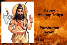 Lord Parashuram, the sixth incarnation of Vishnu was born on Shukla Tritiya of Vaishak month. Vedic Mantras, Hindu Mantras, Hindu Calendar, Gold Wallpaper Background, Gayatri Mantra, Krishna Images, New Relationships