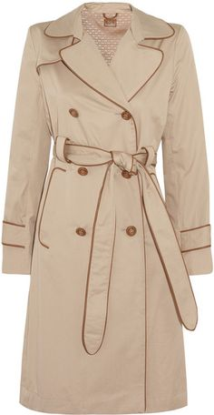 Anya Hindmarch Beige Cotton Twill Trench Coat