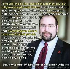 Just keep you religious standards to your own home, not force everyone to live by them.All religions,