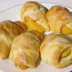 Peach Turnovers with Crescent Rolls