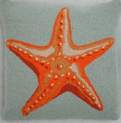 ooked Pillow  Starfish Hooked Pillow
