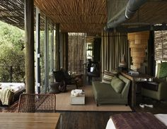 Situated in Kruger National Park, South Africa Singita Sweni is a luxury design safari lodge. Africa Safari Lodge, Colonial, African Interior Design, Lodge Style, Piece A Vivre, Lodges, Decoration, House Design, Resorts