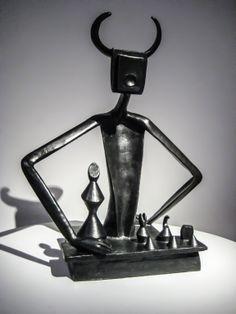 Max Ernst, Le roi jouant avec la reine @ Pompidou museum. Le surréalisme et l'objet