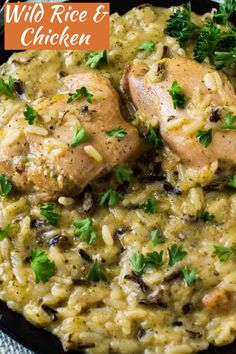 Crock Pot Wild Rice and Chicken is the perect weeknight dinner recipe