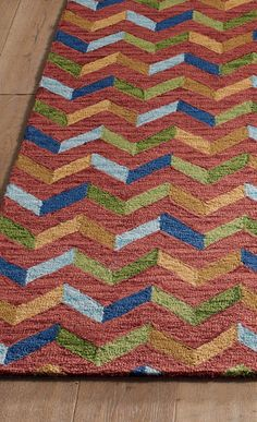 Steady yourself: you're about to be mesmerized by our Zig Zag Rug.