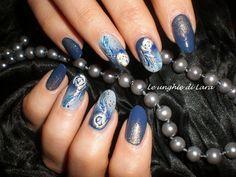 Nail Art Piume e Rose