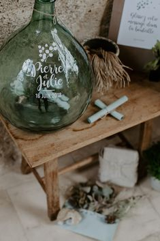 Julie & Pierre wanted to welcome their wedding guests in a simple and rural atmosphere, punctuated with plant elements but . - part mariage mariage boheme champetre champetre deco deco robe romantique decorations dresses hairstyles