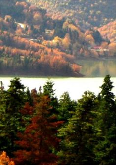 Plastira lake in autumn- Karditsa , Greece