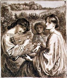 Dante Gabriel Rossetti - Study for 'The Bower Meadow'