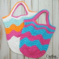 Making Waves Beach Bag , #free #crochet #pattern by Lorene Eppolite on AllFreeCrochet.com
