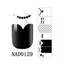 1 Set Elegant Popular Fashion Nail Art Sticker Manicure Decor Self Adhesive Water Transfer Color Type NAD0129 *** You can find out more details at the link of the image.