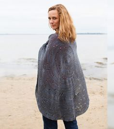Celestarium by Audry Nicklin in Blue Moon Fiber Arts Seduction.    A circle shawl that is a constellation chart with Polaris, the North Star, as the center.  I love this.