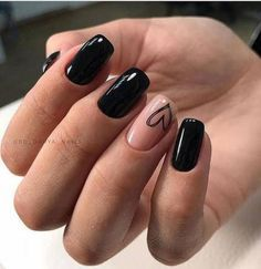 May 2020 - Trendy Matte Black Nails Designs Inspirations For Ladies These trendy Nails ideas would gain you amazing compliments. Check out our gallery for more ideas these are trendy this year. Black Nails Short, Black Nails With Glitter, Matte Black Nails, Black Acrylic Nails, Pink Nails, Nail Black, Gold Nail, White Nail, Black Acrylics