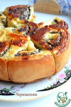 Пирог с маком и кокосовой стружкой
