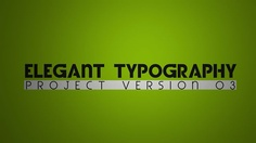 Elegant Typography V3 by TheXANT0 AE template here