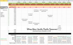 Disney world itinerary template- absolutely the best tip on my board. This spreadsheet is a life saver!   #Disneyplanning