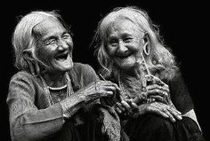 I promise I will laugh like this with my sister when I am ancient, and have my photo taken.