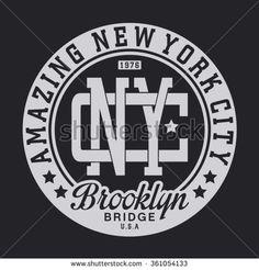 New York city amazing typography, t-shirt graphics, vectors