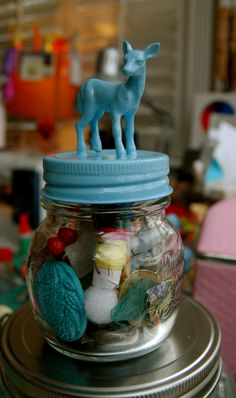 421969c83c Little deer treasure jar! Since last year was the anthro snowglobes.