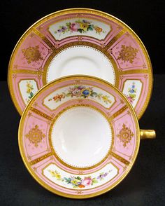 Antique Minton Tea Cup and Saucer Vintage China, Vintage Tea, Tea Cup Saucer, Tea Cups, Serveware, Tableware, Pink Cups, Crumpets, Teapots And Cups