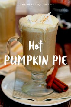 It's your favorite dessert at Thanksgiving, but could you imagine it in #cocktail form? Well, now you can! The Hot Pumpkin Pie cocktail is the drink to warm up and celebrate with this #holiday season!