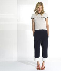 Tee-shirt à message maille | Devernois Maille de Luxe SS18
