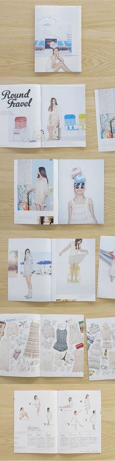 Love the images and models used and the colour scheme - good for double page spread.