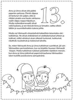 Joulukalenteri 2015 - Värinautit Diy For Kids, Christmas Diy, Words, Homemade Christmas, Diy Christmas, Horse