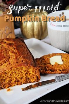 If you want a pumkin bread recipe that is so moist it will melt in your mouth, this is the recipe you need. I've been making it for years, and momma -- years before that. Homemade Pumpkin Puree, Homemade Muffins, Pumpkin Recipes, Cookie Recipes, Dessert Recipes, Pumpkin Spice, Tasty Bread Recipe, Bread Recipes, Cream Puff Recipe