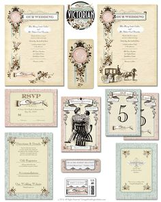 Victorian Wedding Invitation Suite This Downton Abbey Style Design Collection Reminds Us