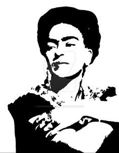 frida kahlo stencil - Google Search