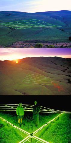 """Luminous Earth Grid"" by Stuart Williams"