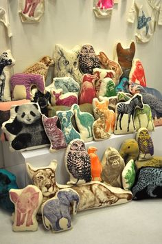 Fabric transfer animals. Some Dover clip art animals, printed on transfer paper?