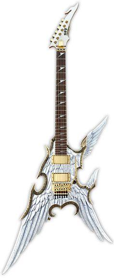 Une #ESP #Fantasia modèle #custom #Flying #Angel. Retrouvez des cours de…