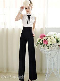 $29.77  New Fashion Loose Empire Waist Black Long Pants ...