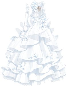 super pretty cute dresses in anime Dress Drawing, Drawing Clothes, Dress Sketches, Fashion Sketches, Pretty Dresses, Beautiful Dresses, Kleidung Design, Anime Dress, Fashion Art