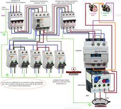 Esquemas eléctricos: cuadro electrico trifasico con maniobra marcha par...