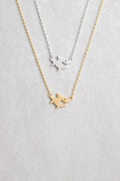 Shark Attack Necklace (Available in silver or gold)